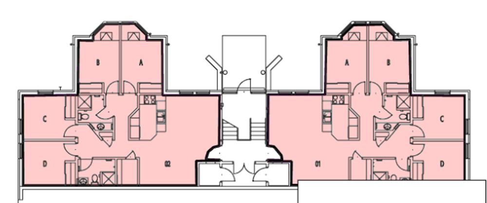 Floor Plan of Apartment Buildings
