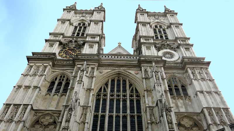 An exterior view of Westminster Abbey