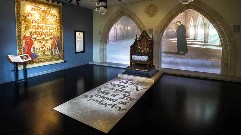 An interior view of the King Richard III Visitor Centre