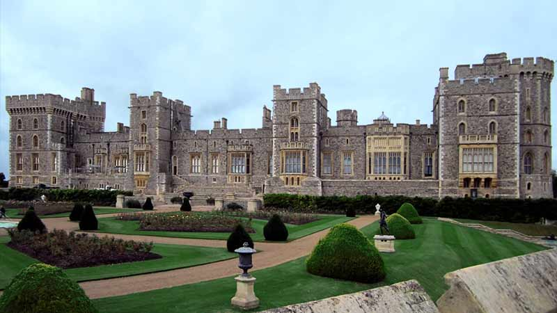 An exterior view of Windsor Castle